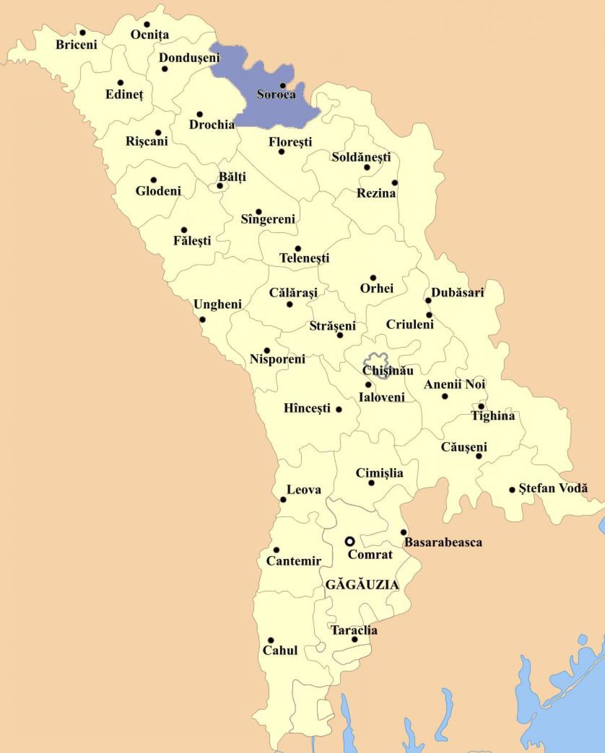 Cahul Moldova Kartta Kartta Cahul Moldova Ita Eurooppa Eurooppa