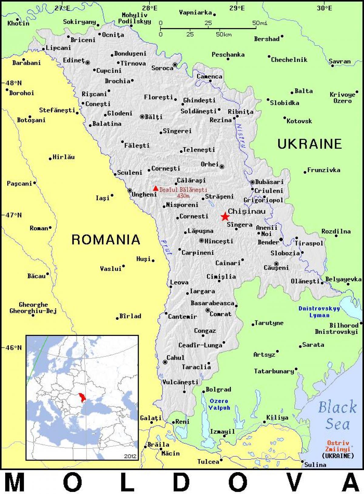 Moldova Maa Kartta Kartta Moldovan Maiden Ita Eurooppa Eurooppa