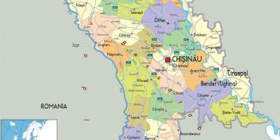 Moldova Kartta Kartat Moldova Ita Eurooppa Eurooppa